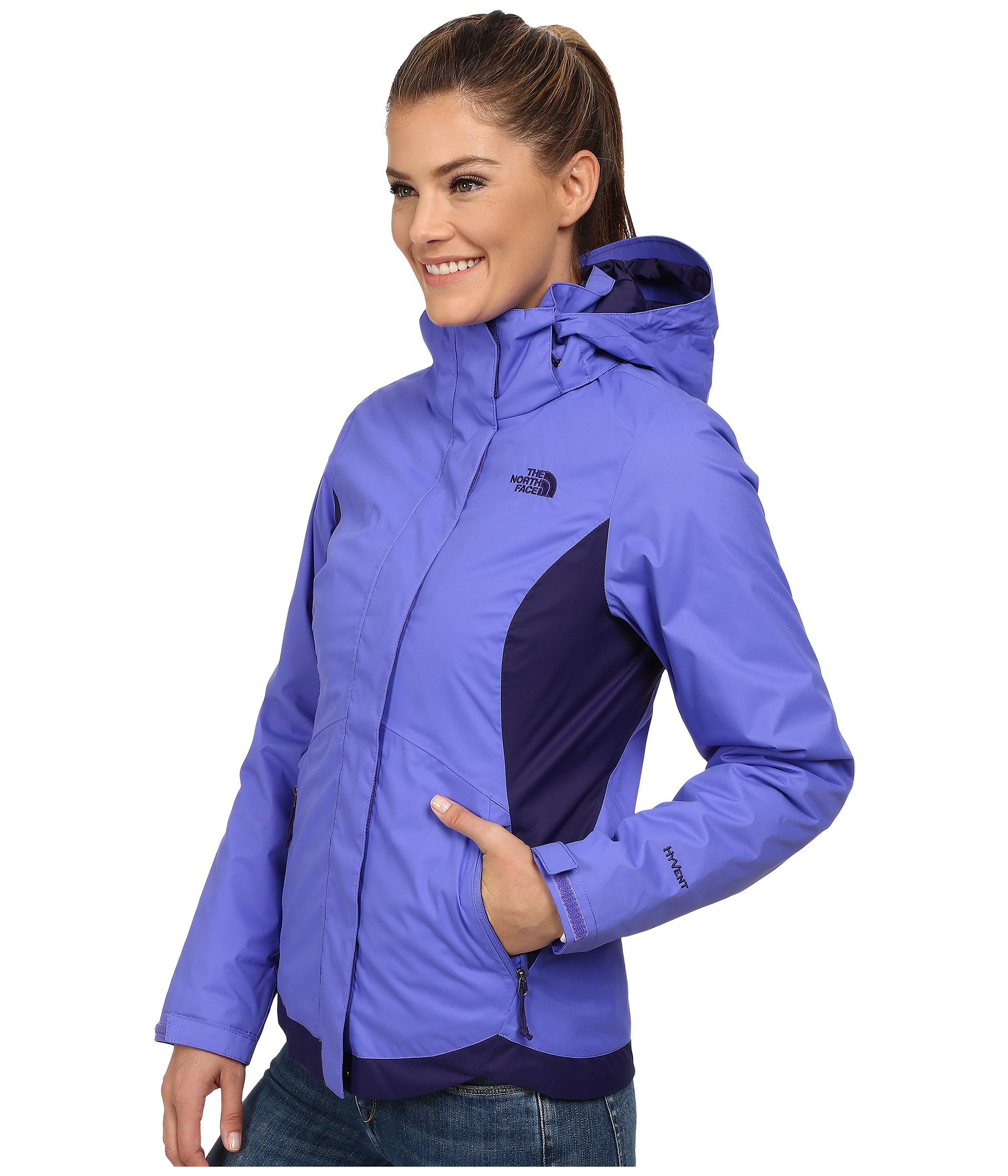 80d166cb4b00 Lyst - The North Face Mossbud Swirl Triclimate® Jacket in Purple