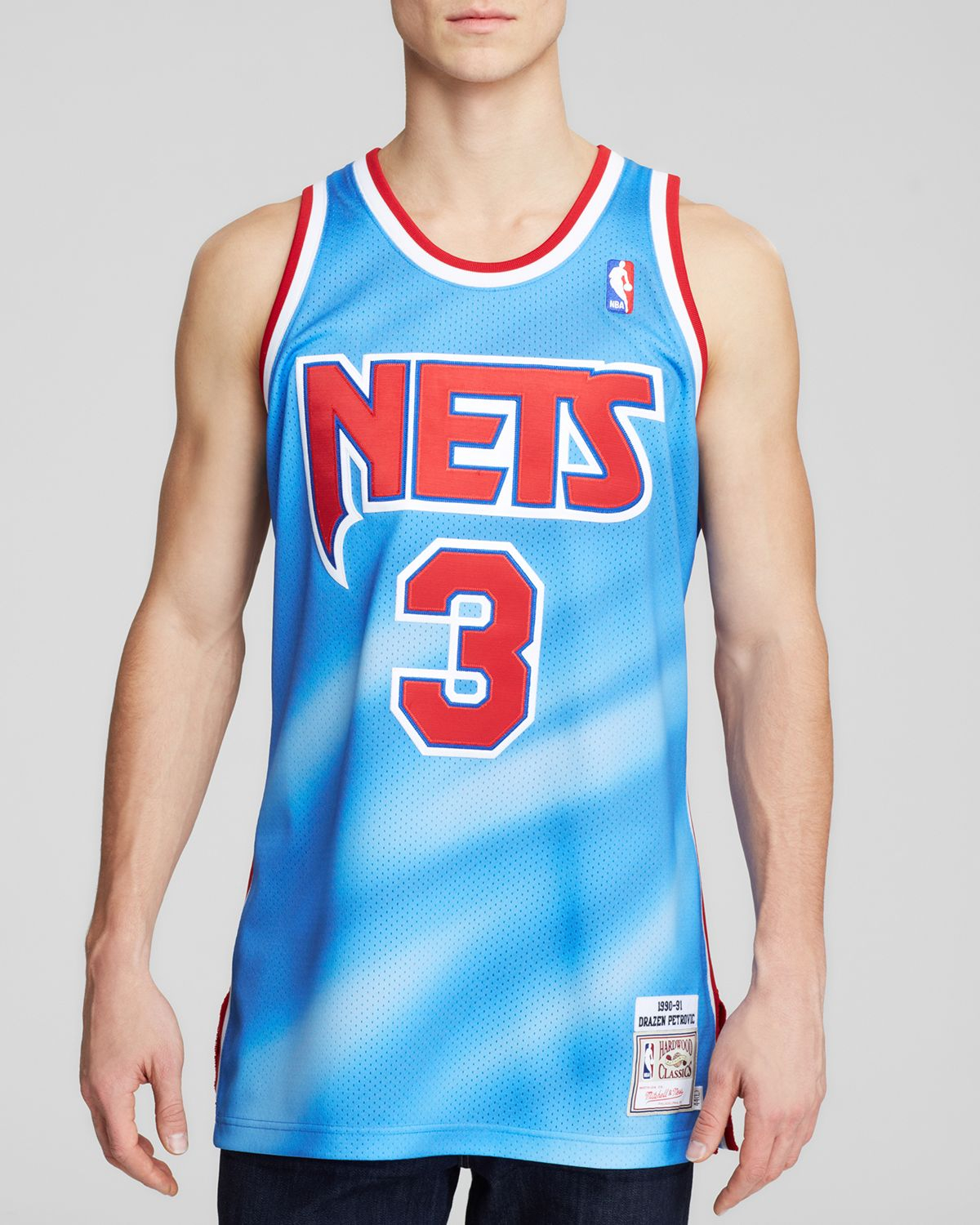 release date ad4db 0d2c1 Mitchell & Ness Blue 1993 New Jersey Nets Drazen Petrovic Jersey for men