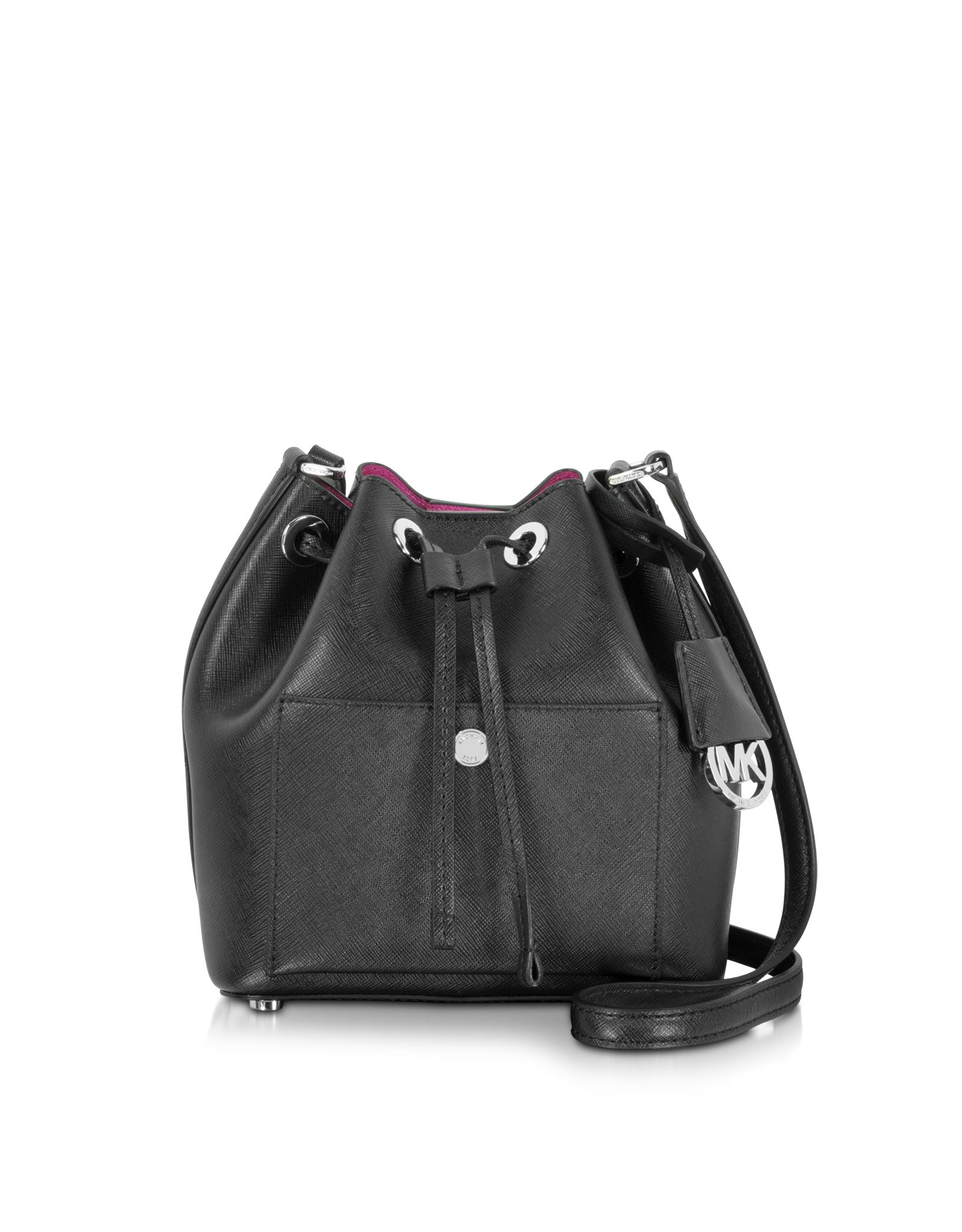 black and gray michael kors bag ya6d  Gallery Women's Bucket Bags