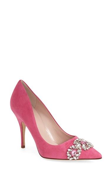 kate spade larsa pointy toe in pink pink swirl