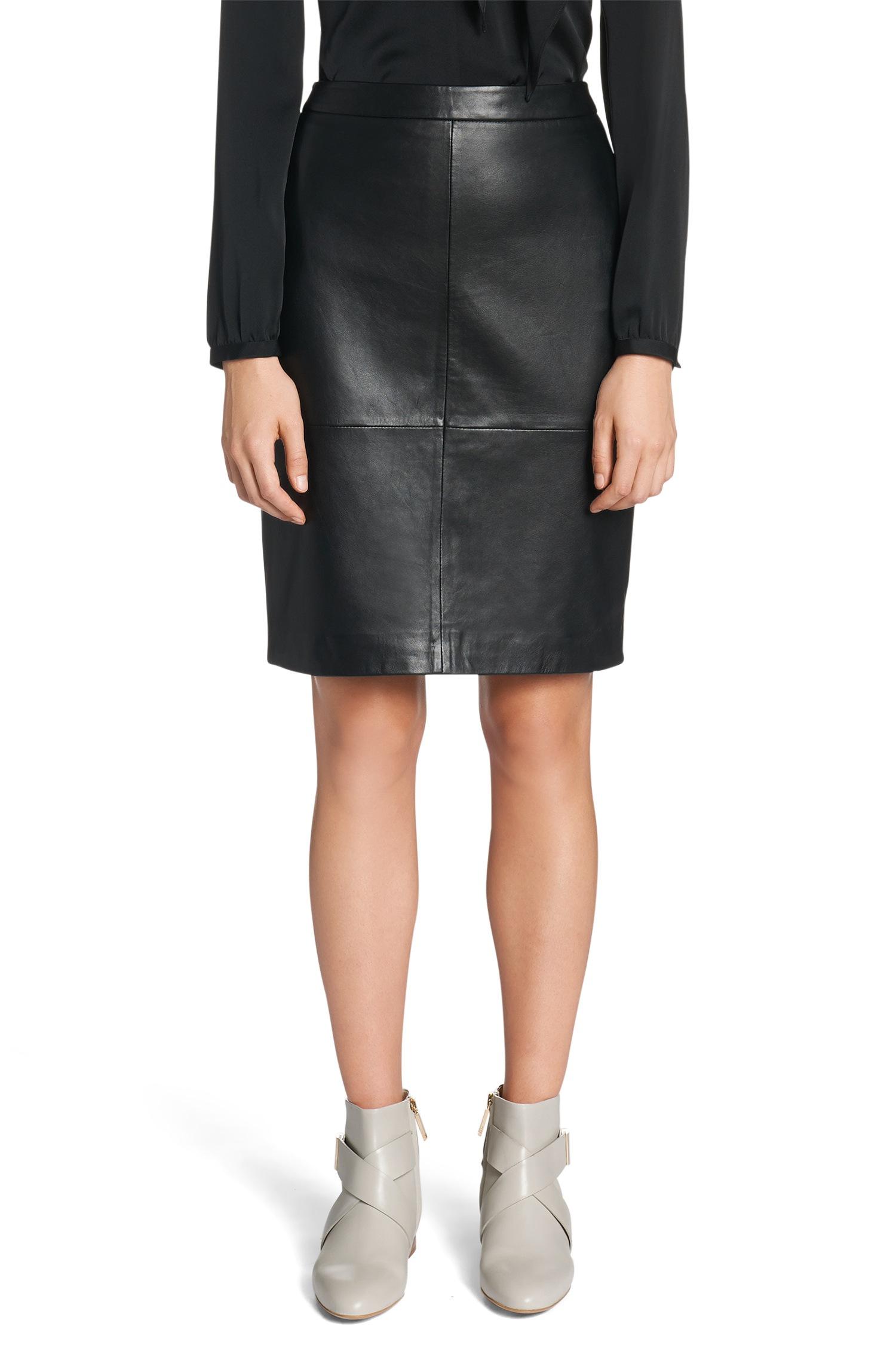 hugo lanine lambskin leather pencil skirt in black lyst