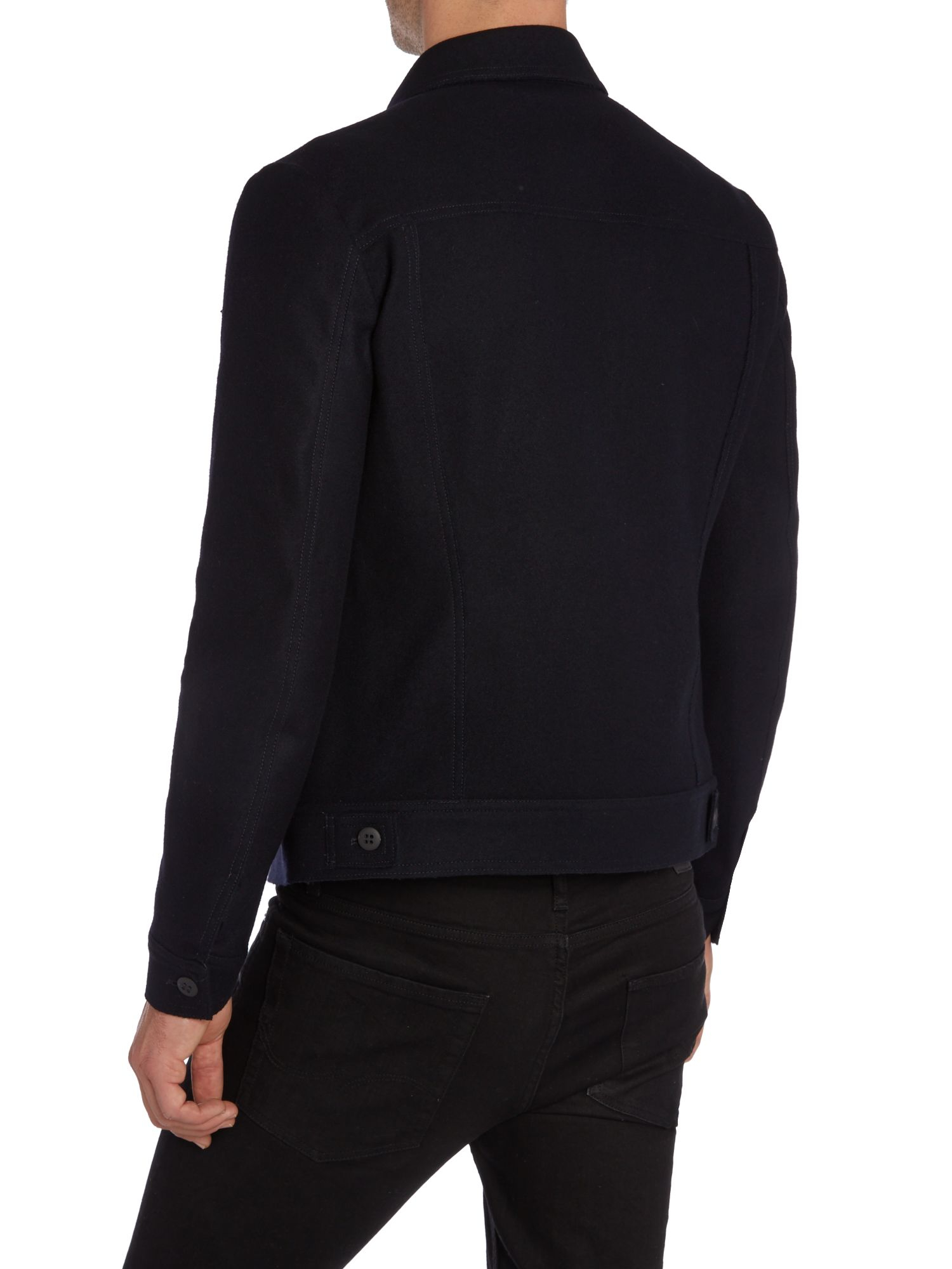 sisley casual shirt jacket in blue for lyst