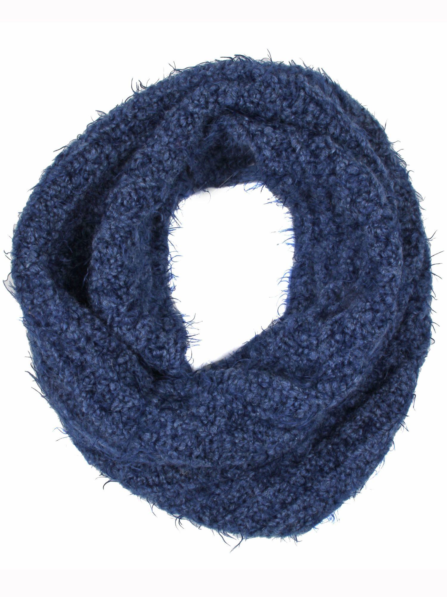 dents stretch cowl neck scarf in blue lyst