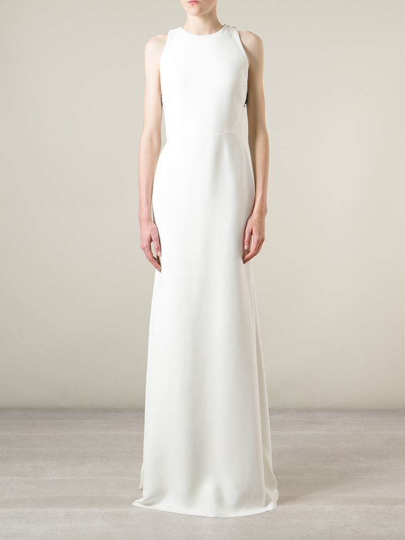 Victoria Beckham Wedding Dress | Lyst Victoria Beckham Embellished Open Back Bridal Dress In White