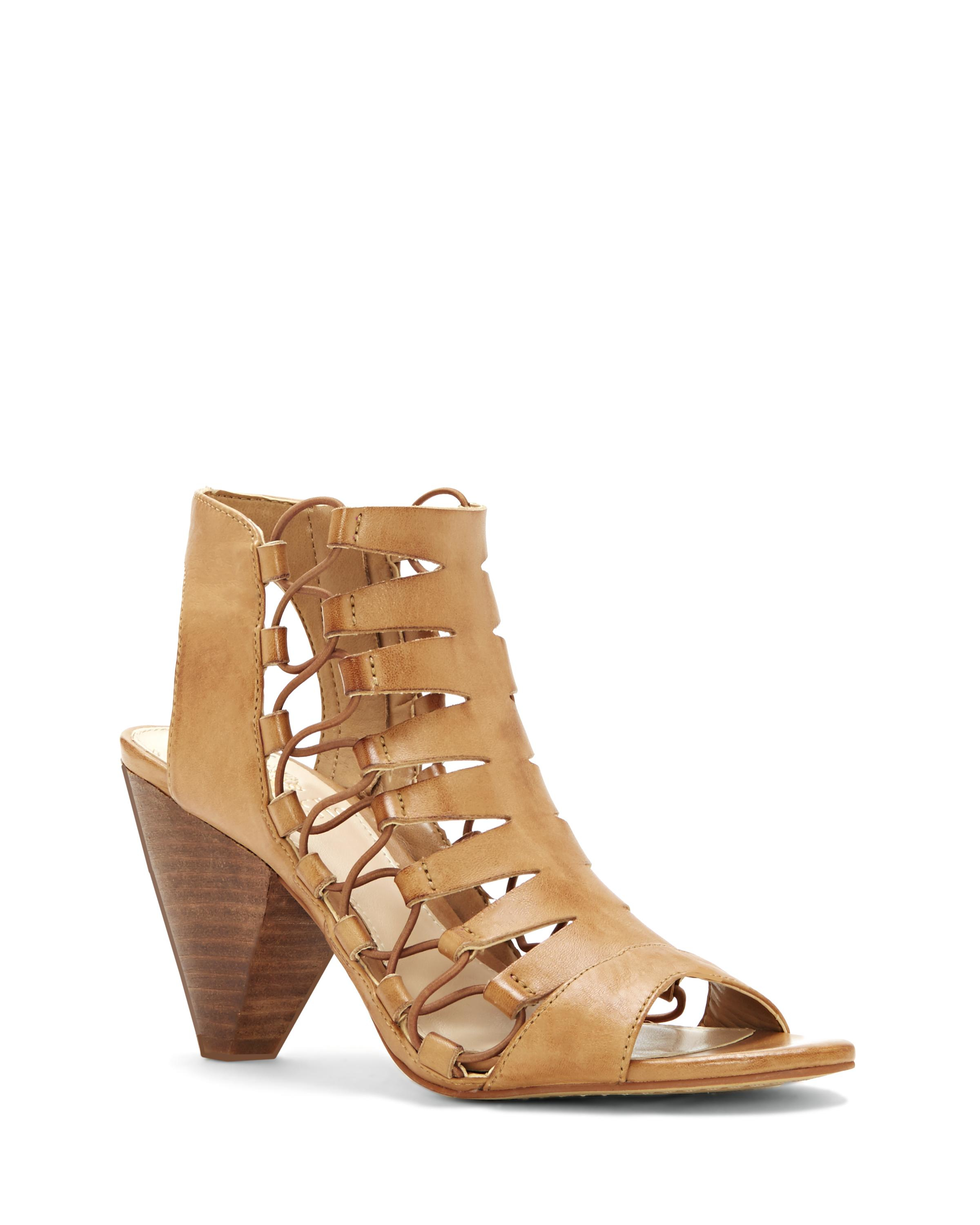Vince Camuto Eliaz Cord Accented Cone Heel Sandal In Natural Lyst