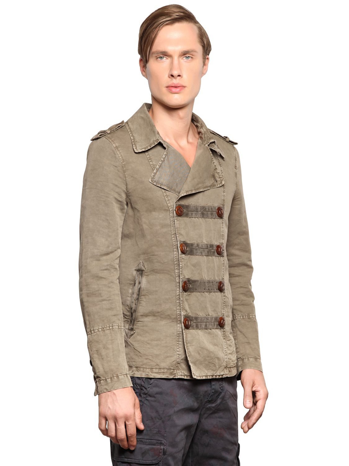Corto Maltese Linen Cotton Canvas Colonial Jacket In