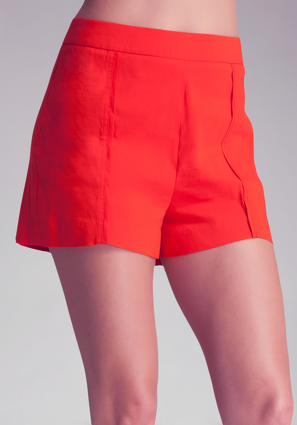 Bebe Contrast Origami Shorts in Red | Lyst - photo#11