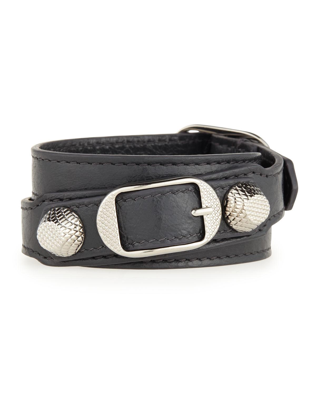 Balenciaga Womens Arena Leather Giant Bracelet rawyjuPa