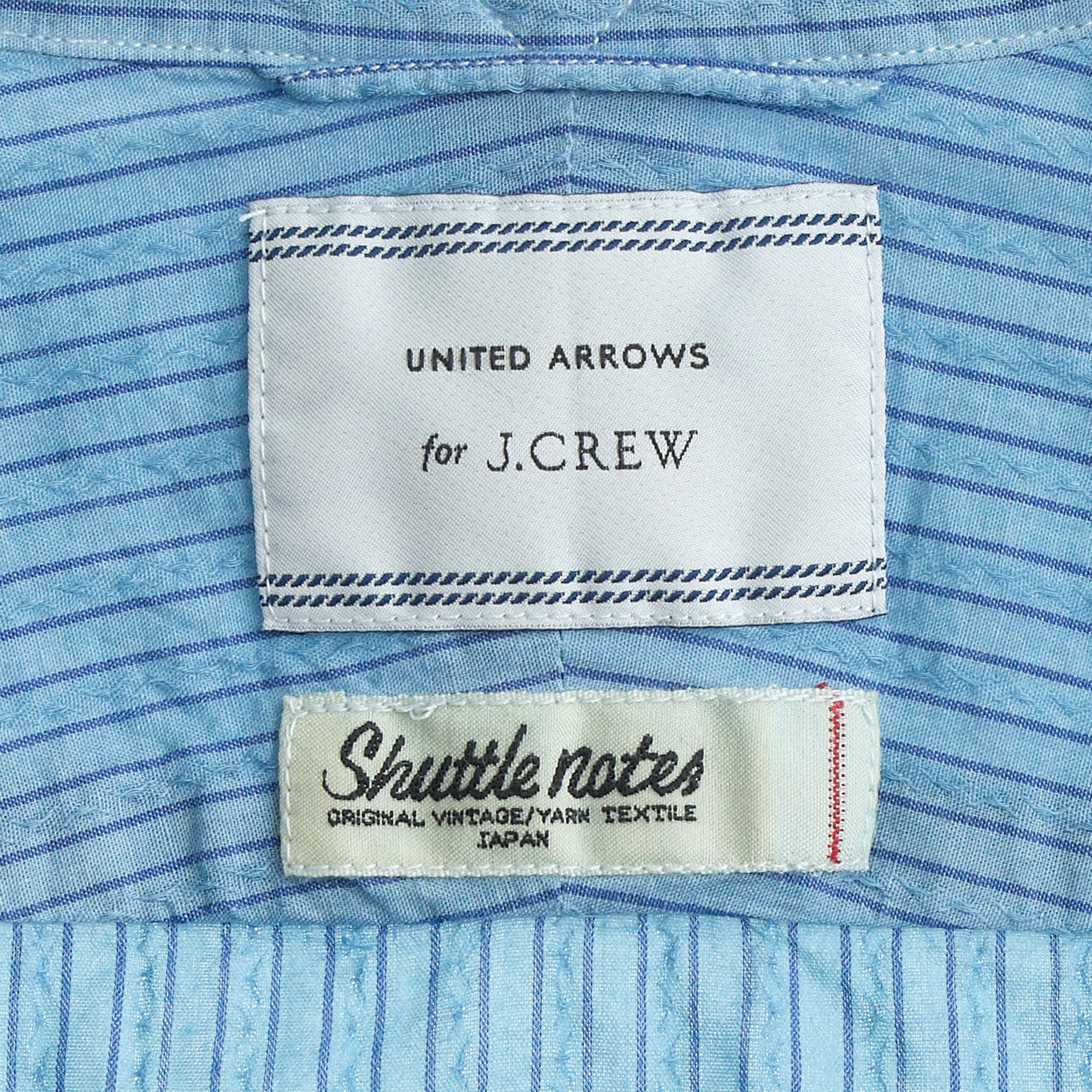 J.Crew United Arrows Overdyed Indigo Shirt In Vintage Stripe in Blue for Men