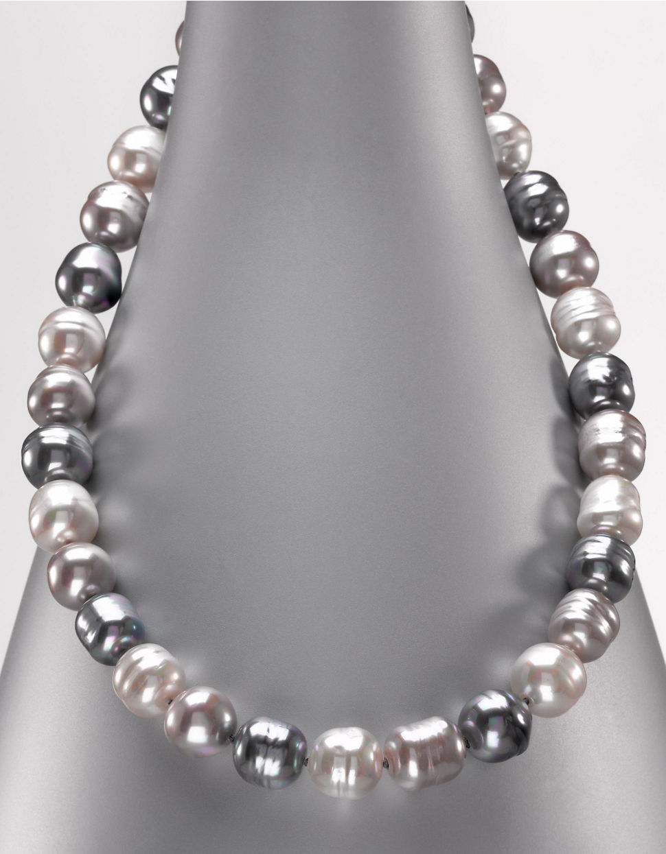 Majorica Multi Coloredanic Man Made Pearl Necklace In Metallic