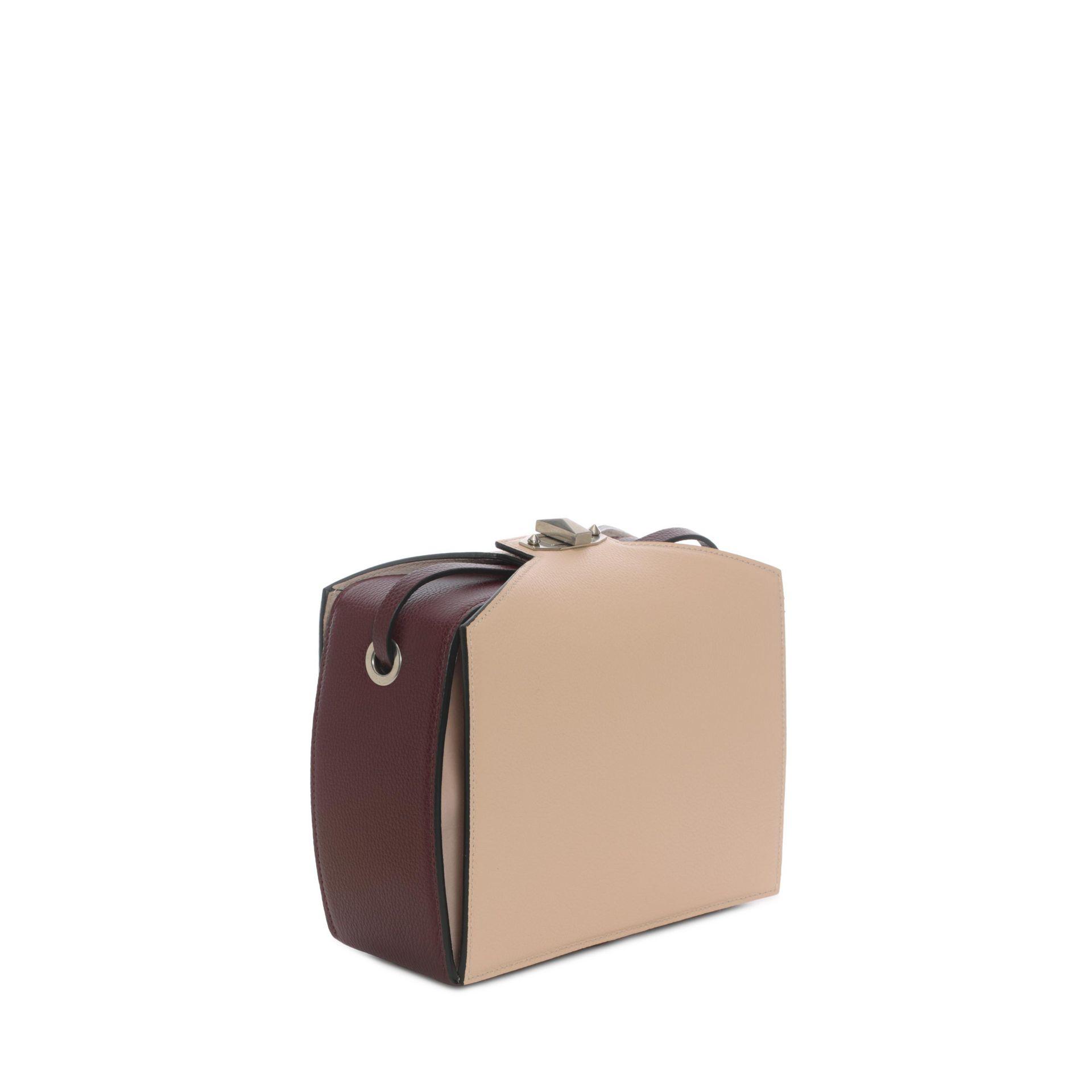Alexander McQueen Grained Leather Shoulder Box Bag nHFRfcO84