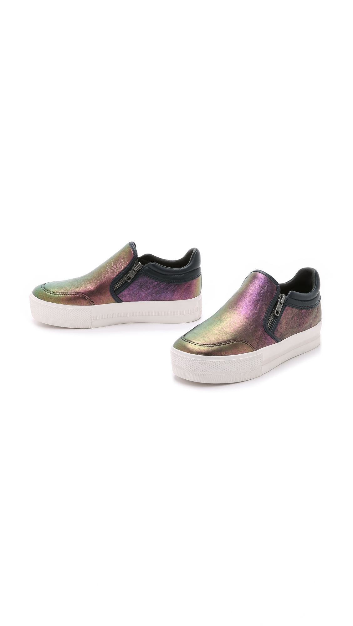 ash jordy slip on sneakers midnight purple in blue lyst