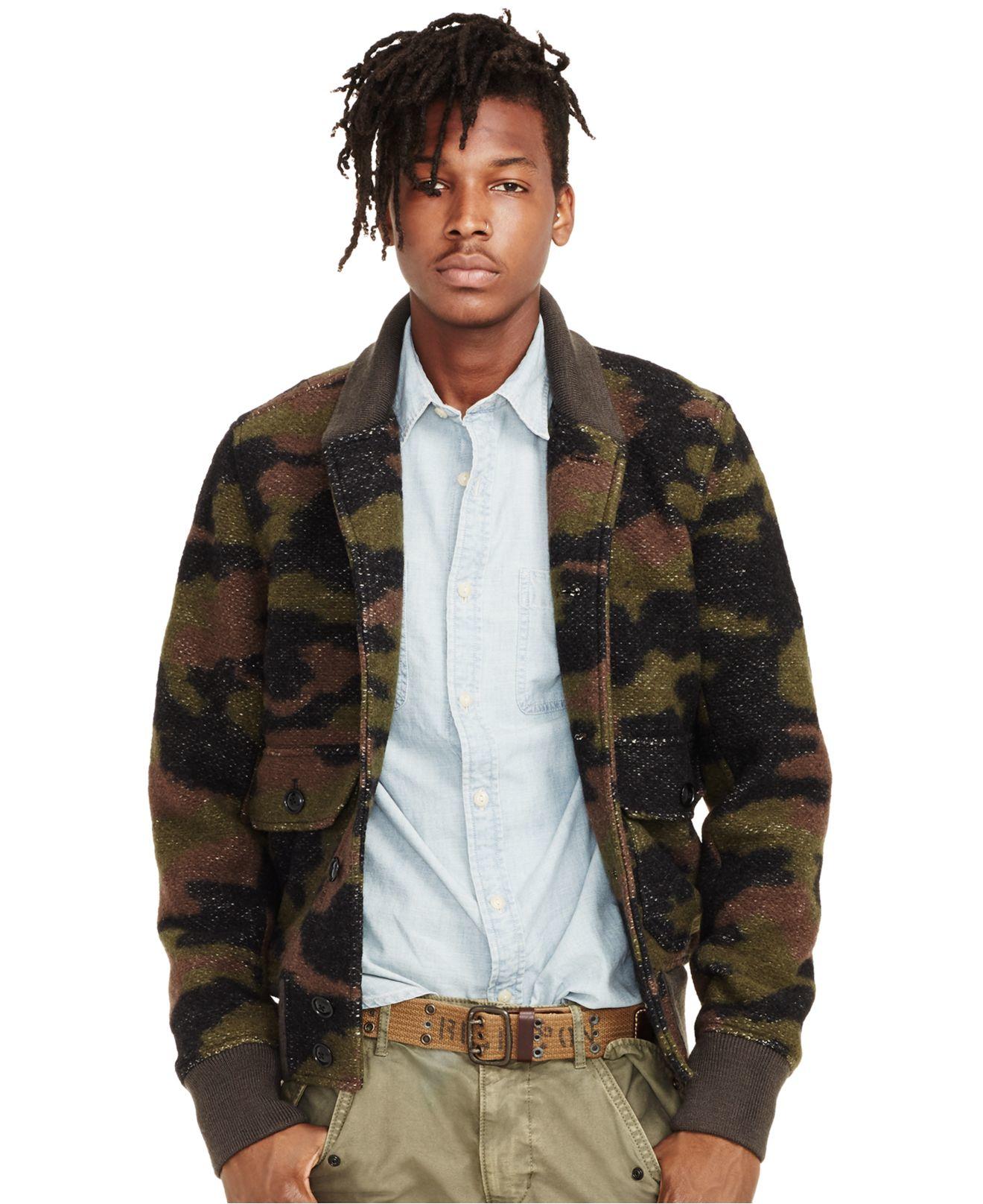Denim Amp Supply Ralph Lauren Men S Camouflage Bomber Jacket