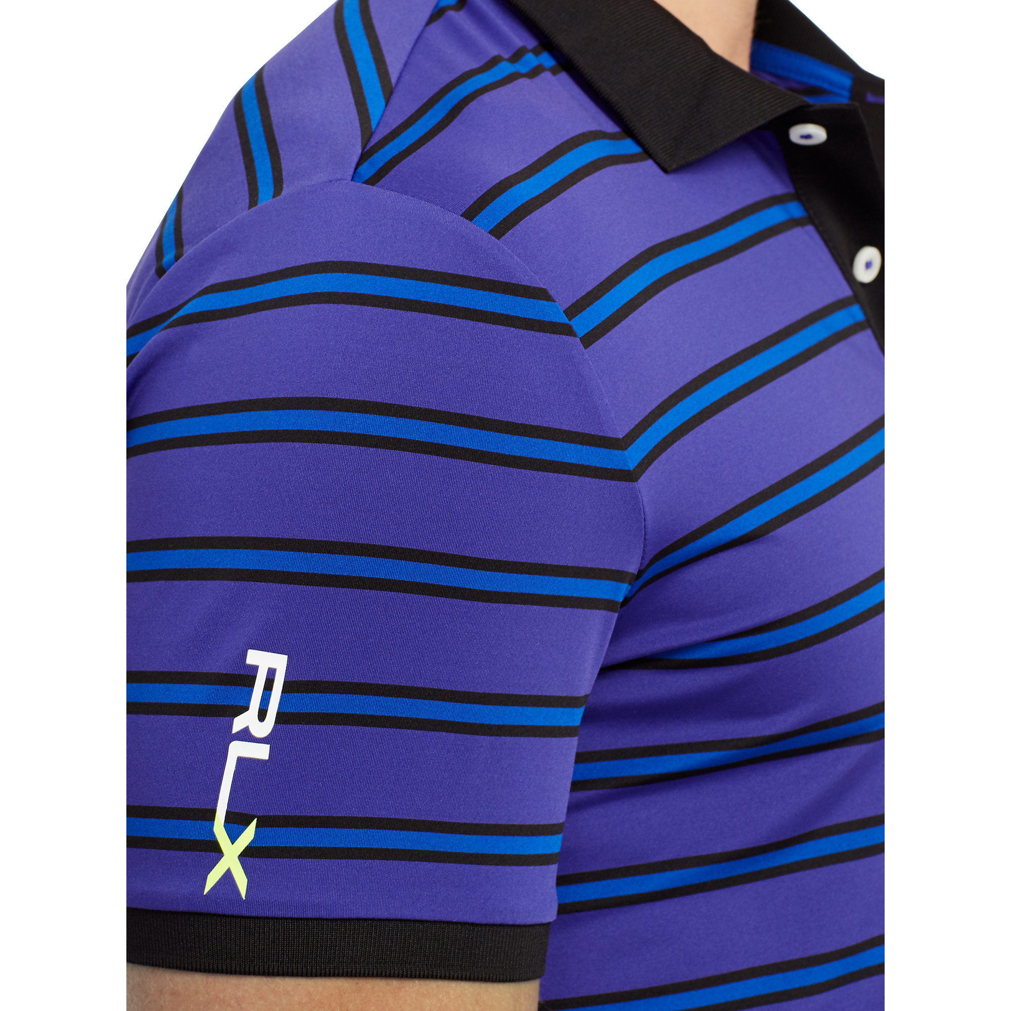 Ralph lauren slim fit striped polo shirt in purple for men for Purple and black striped t shirt