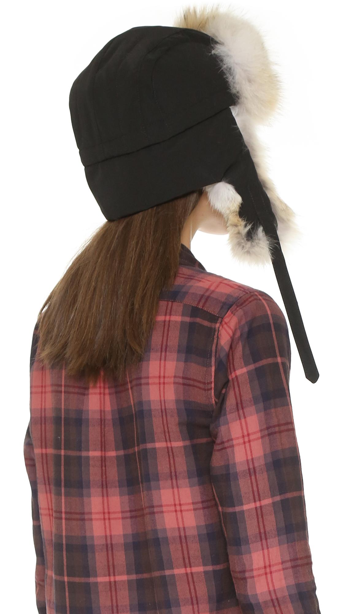 Canada Goose vest outlet fake - Canada goose Aviator Hat - Black in Beige (Black) | Lyst