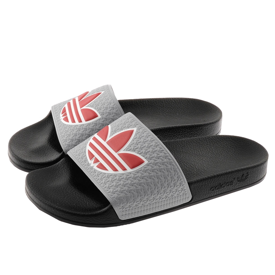 Lyst Adidas Originals Adilette Trefoil Flip Flops In Gray For Men Sendal Original Gallery