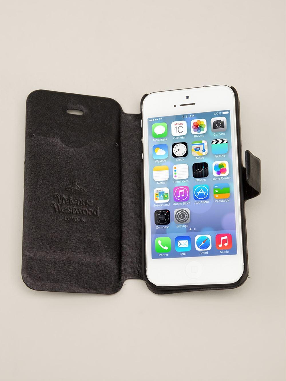 official photos 4a49e 33caf Vivienne Westwood Black Iphone 5s Folio