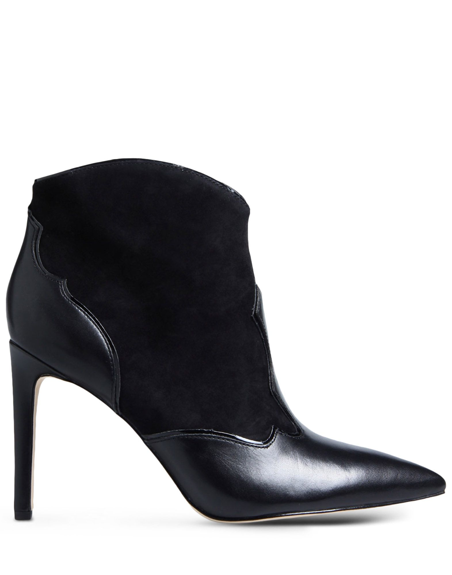 sam edelman pointed toe leather ankle boots in black lyst
