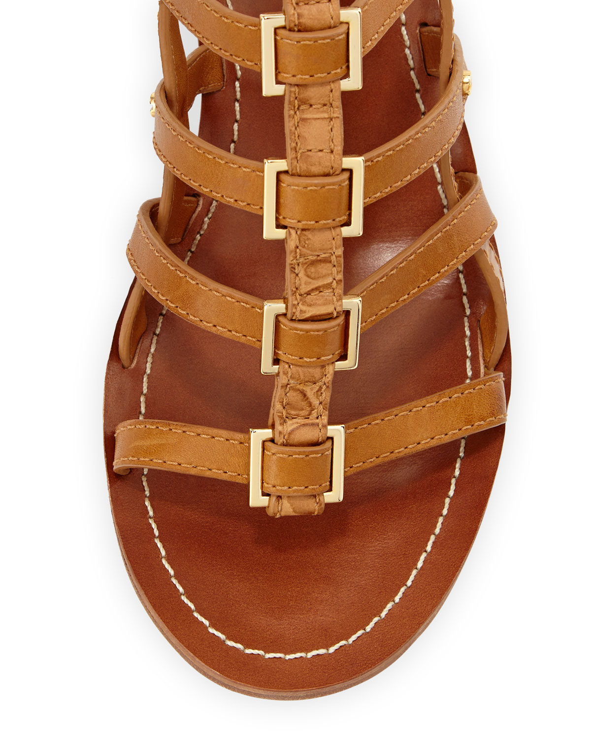 Tory Burch Reggie Leather Gladiator Sandal Tan In Brown Lyst