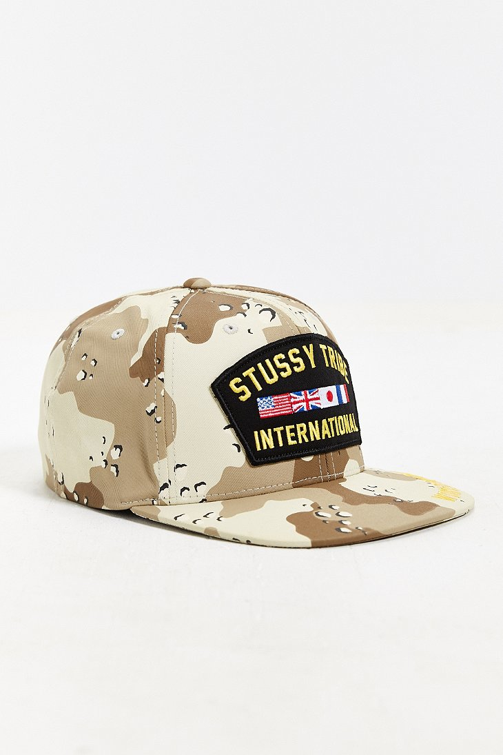 Lyst - Stussy Camo Snapback Hat in Green for Men 03056e4250d