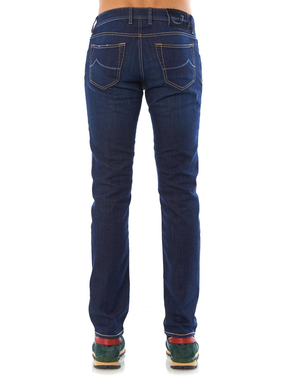 jacob cohen skinny leg denim jeans in blue for men denim lyst. Black Bedroom Furniture Sets. Home Design Ideas