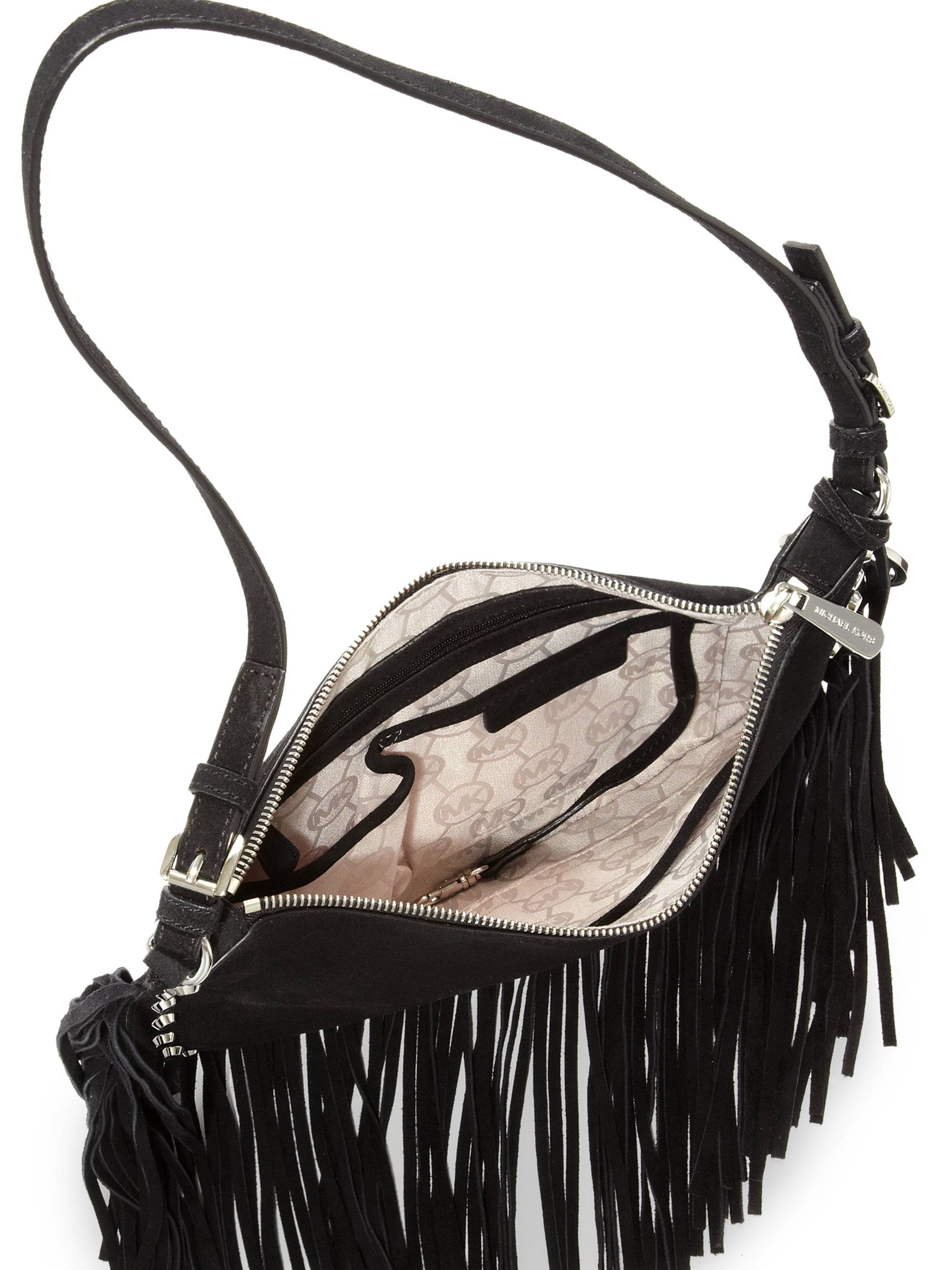 506e0c6e4b0d Mk Black With Fringe Crossbody Bags | Stanford Center for ...