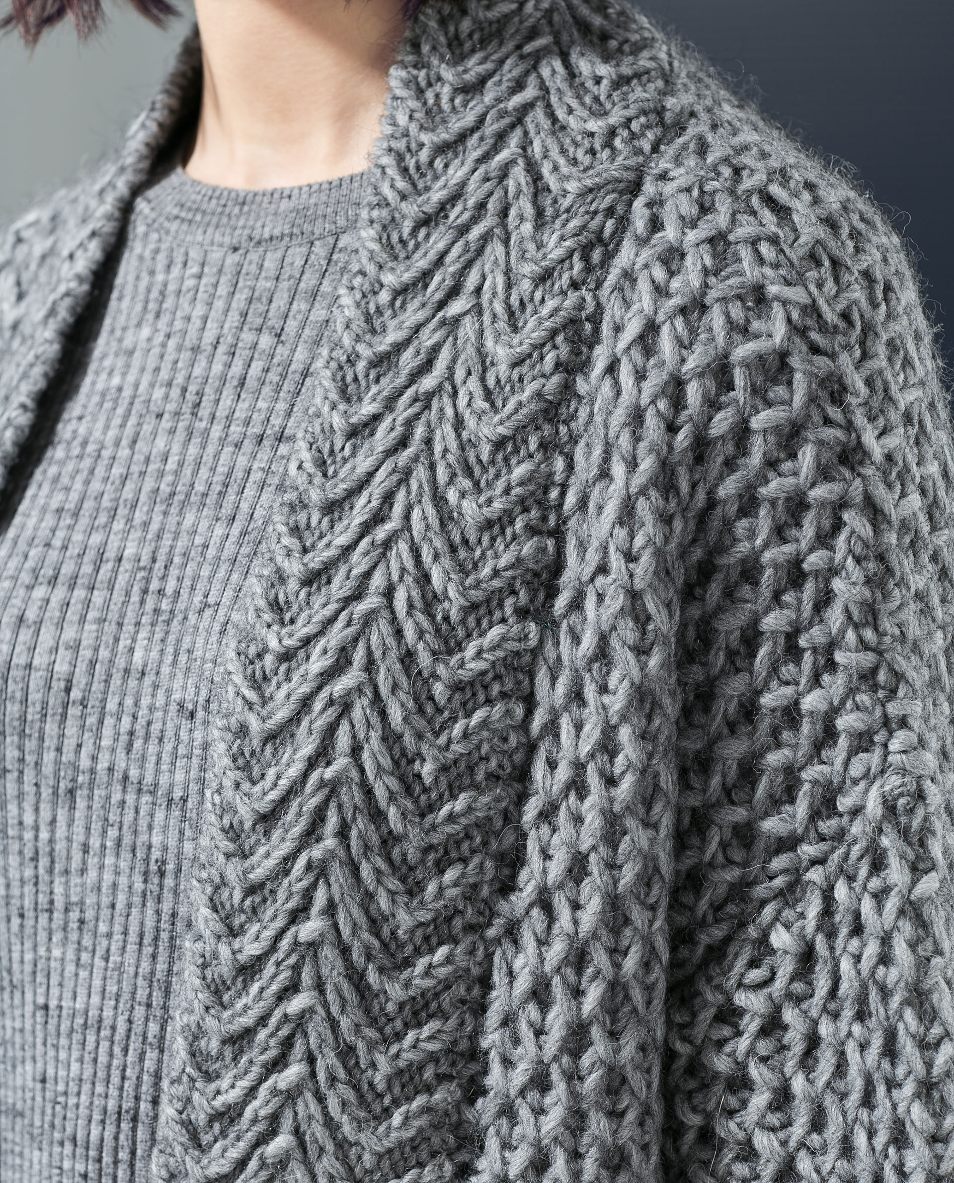 Knitting Pattern For Cardigan With Pockets : Zara Knit Cardigan With Pockets in Gray Lyst