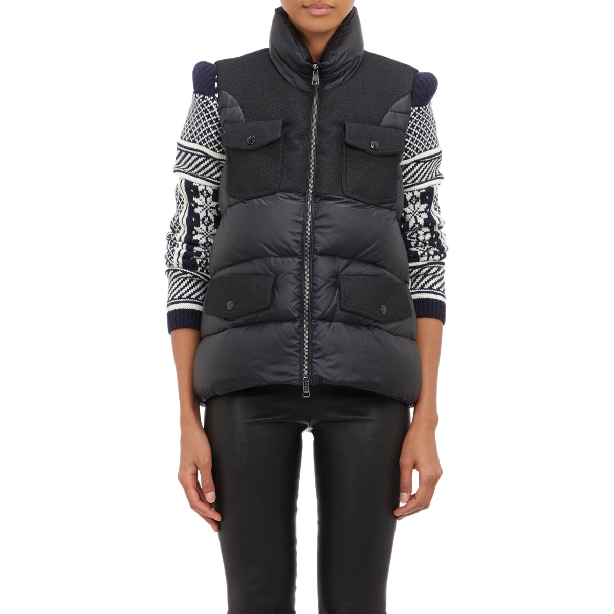 Moncler Down-quilted Vest in Black | Lyst : down quilted vest - Adamdwight.com