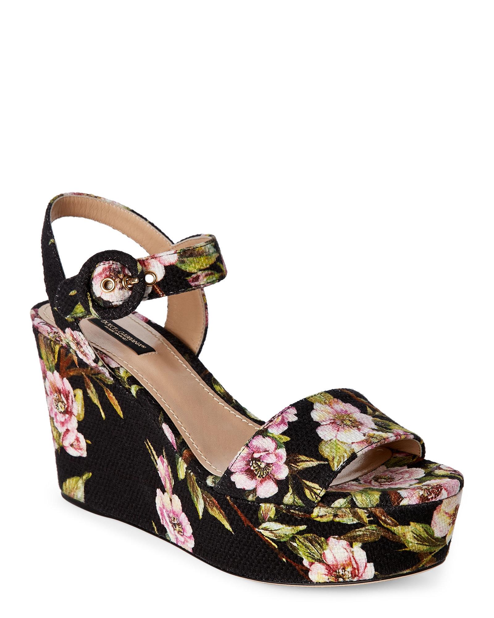 Black Floral Sandals   Best Dresses 2019