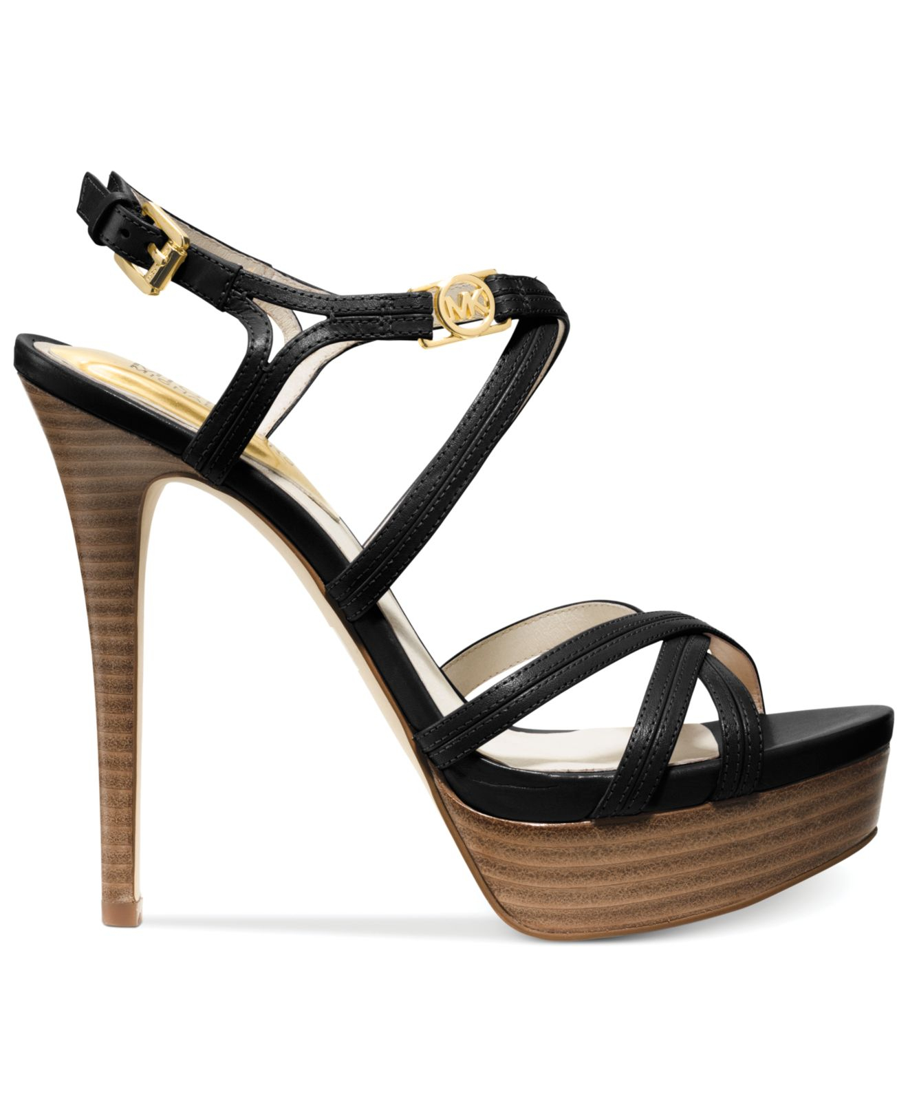 e7d3a67960b9 Lyst - Michael Kors Michael Cicely Platform Sandals in Black