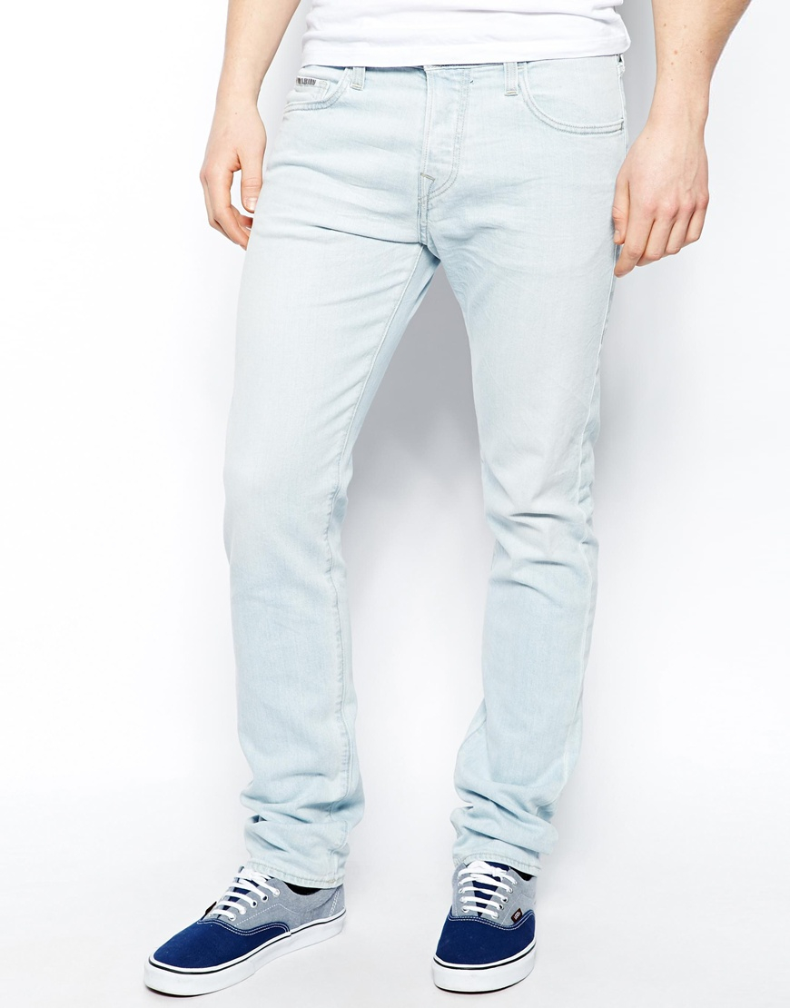 True Religion Jeans Rocco Slim Fit Sky Bleach Wash In Blue