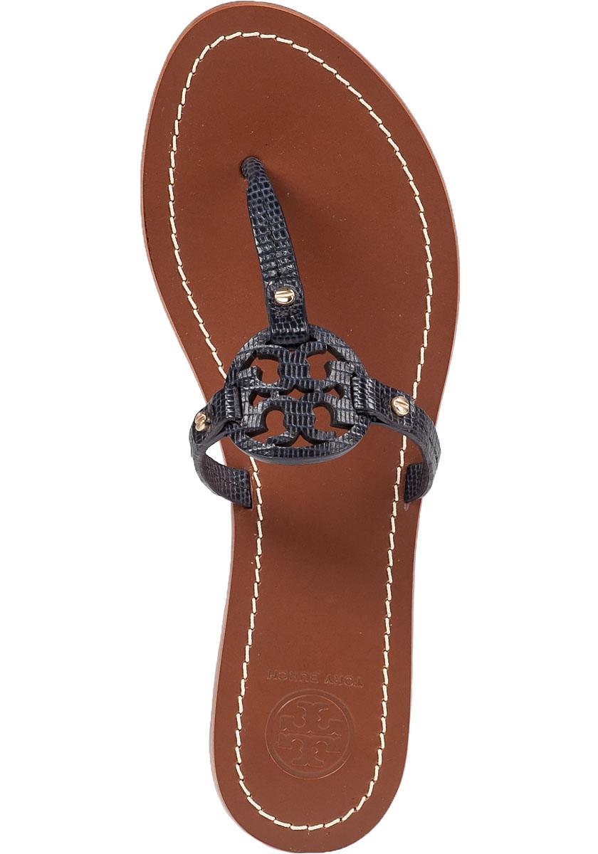 Tory Burch Mini Miller Flat Sandals In Blue Lyst