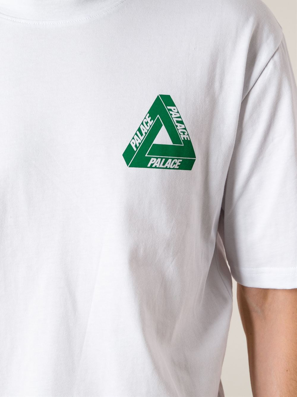 Lyst - Palace Triangle Logo Tshirt in White for Men a98c20c7897
