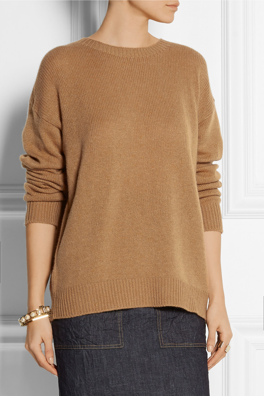 Marni Cashmere Sweater in Brown | Lyst