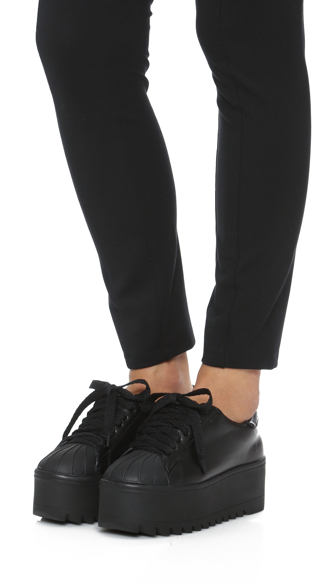 Jeffrey Campbell Synergy Platform Sneakers in Black