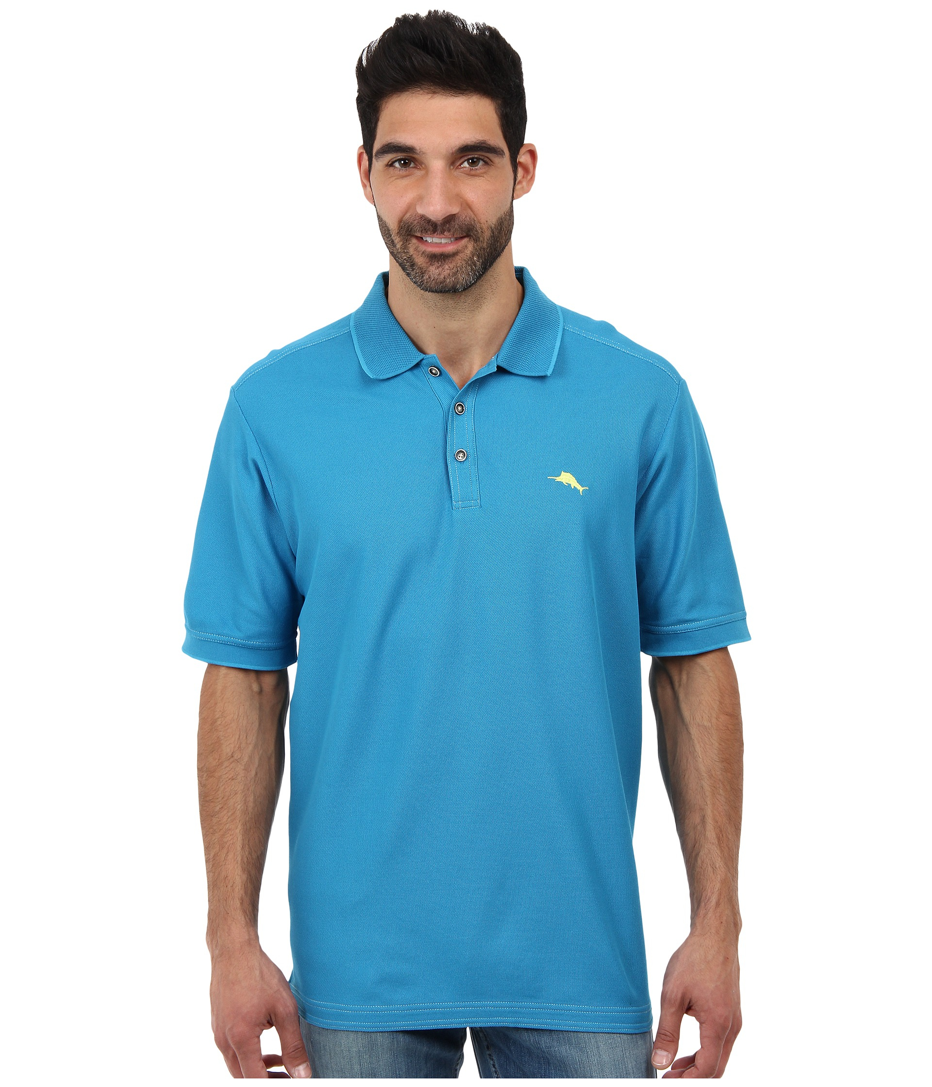 Tommy Bahama The Emfielder Polo Shirt In Blue For Men