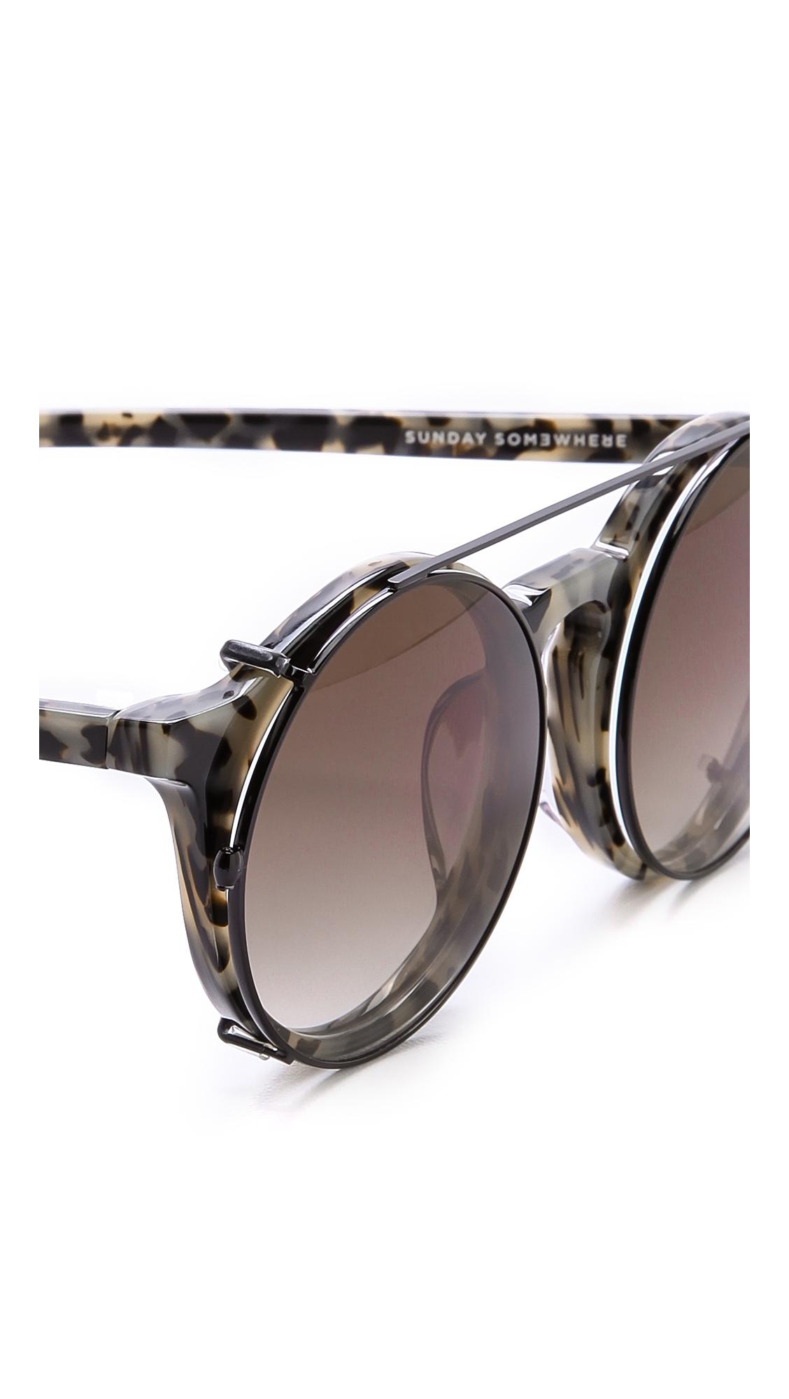 a1cf65e616b Lyst - Sunday Somewhere Matahari Sunglasses Cookies and Cream in Natural