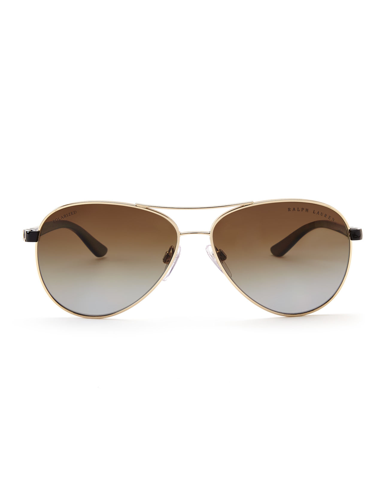 Ralph Lauren Polarised Sunglasses  ralph lauren rl7046 gold tone aviator polarized sunglasses in