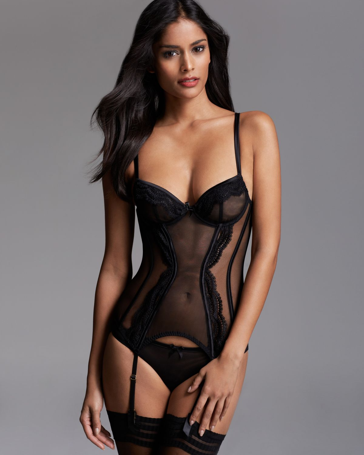 Agent provocateur Belisa Basque Corset in Black | Lyst