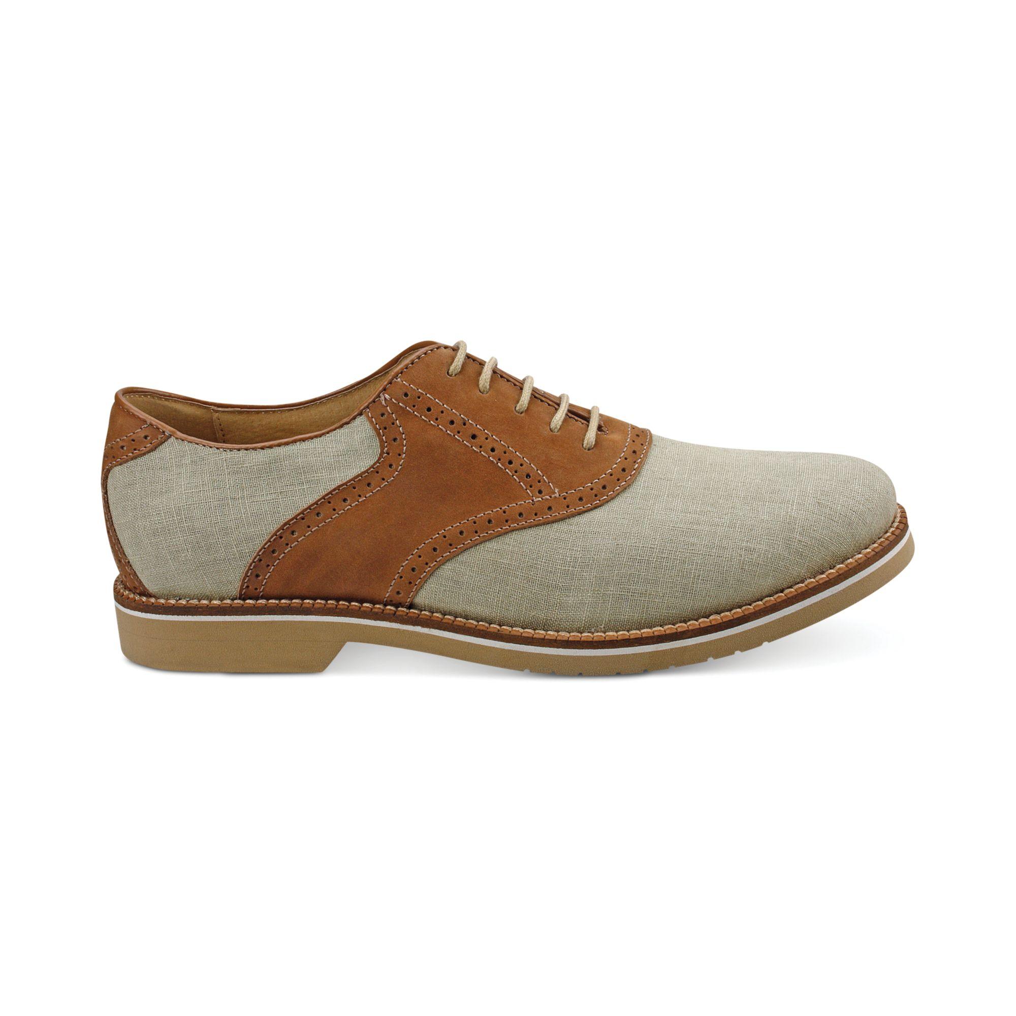 g h bass co carson saddle oxfords in beige for