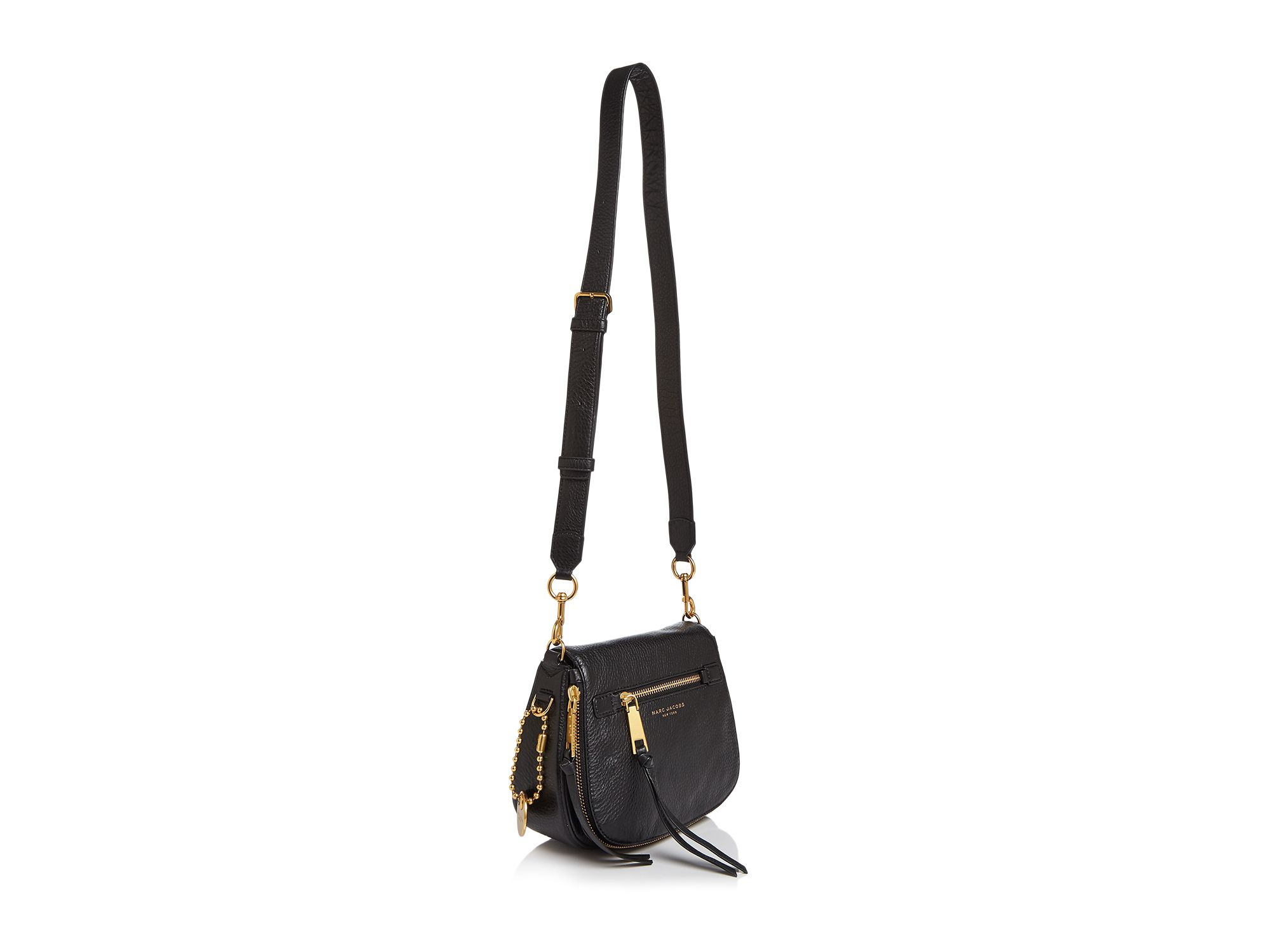 b1ac728b1 Marc Jacobs Recruit Small Saddle Bag in Black - Lyst