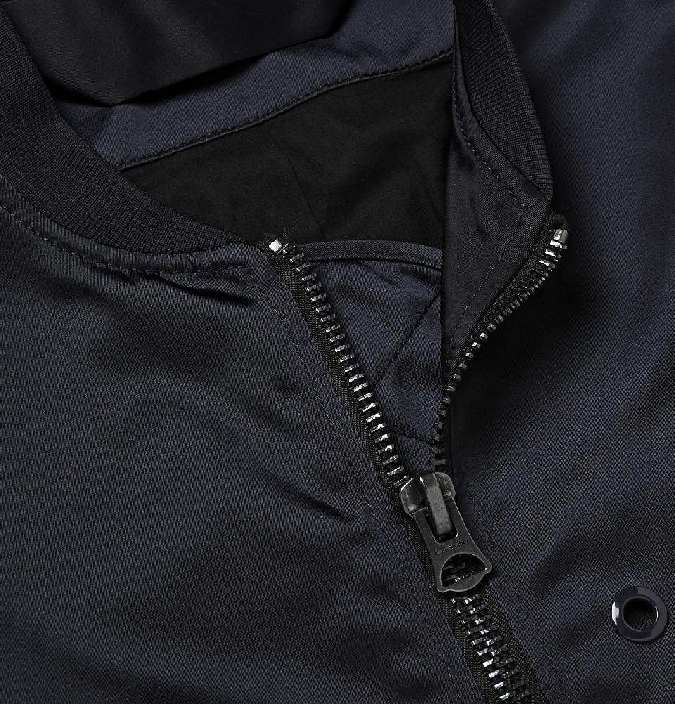 Acne Studios Selo Light Satin-Finish Shell Bomber Jacket in Blue for Men