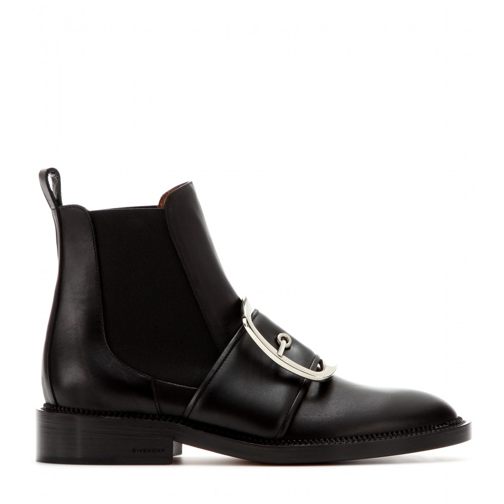 givenchy tina leather chelsea boots in black lyst