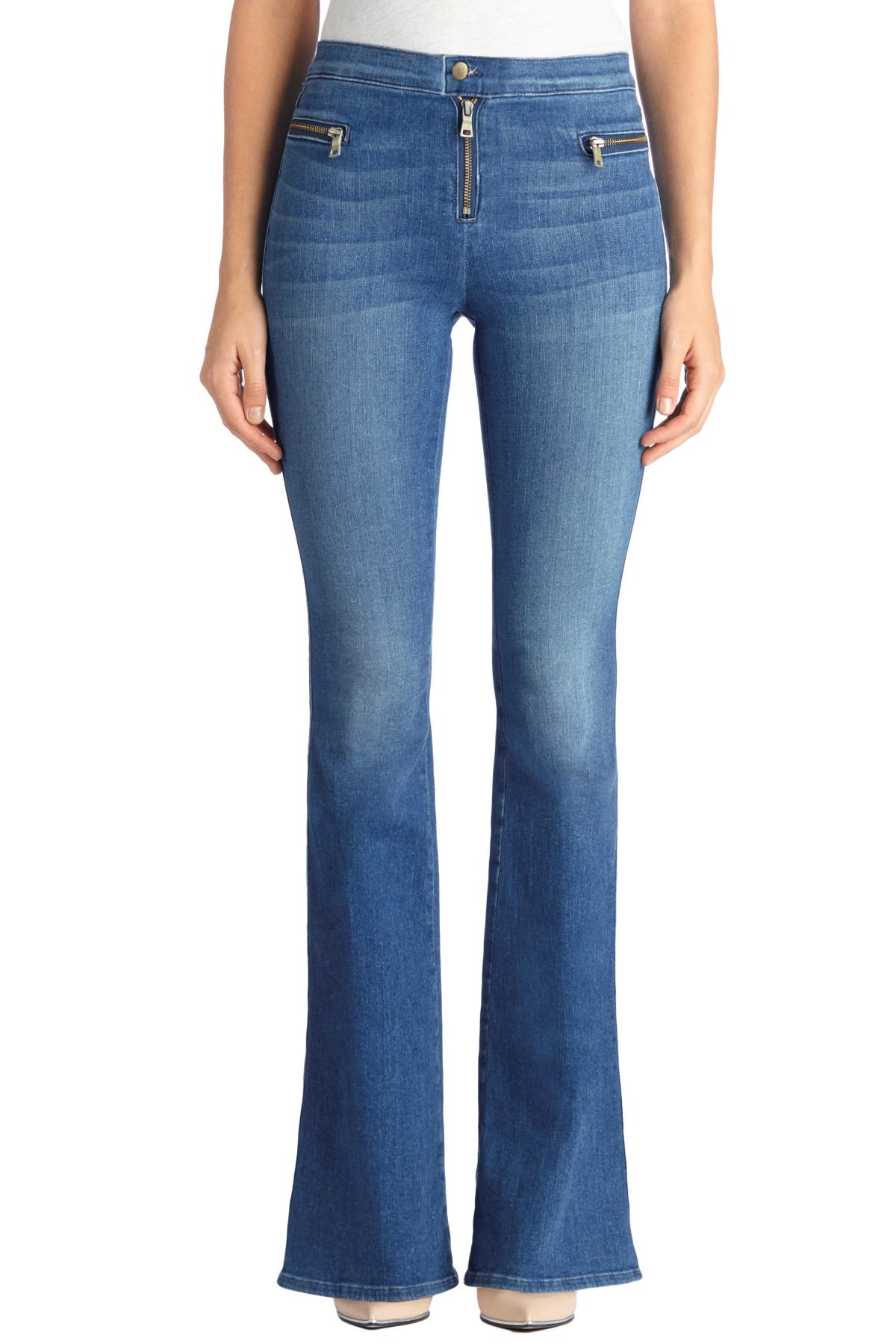 J brand 22312 Katie Slim Flare With Exposed Front Zippers (short ...