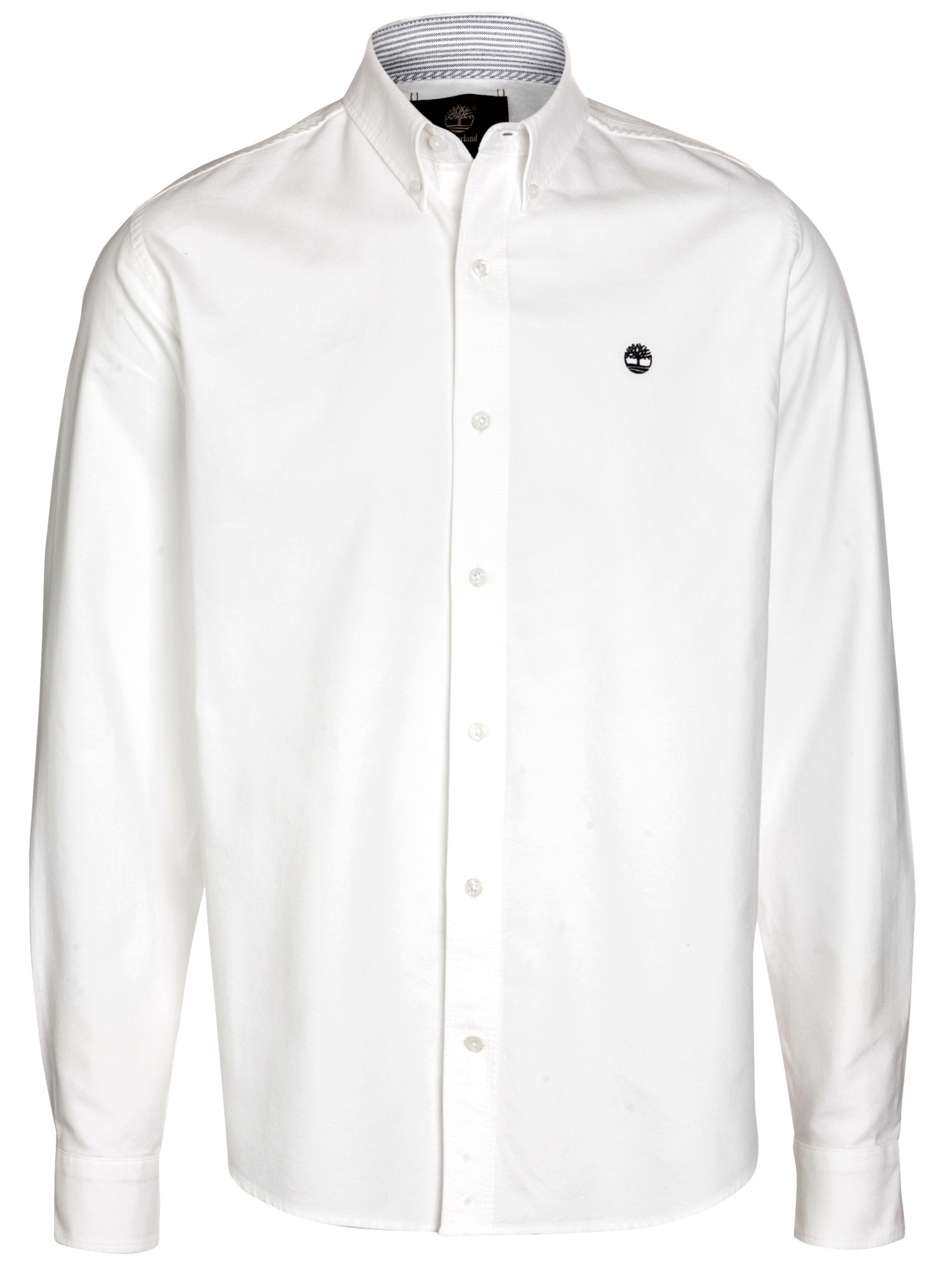 Timberland Long Sleeve Oxford Shirt in White for Men