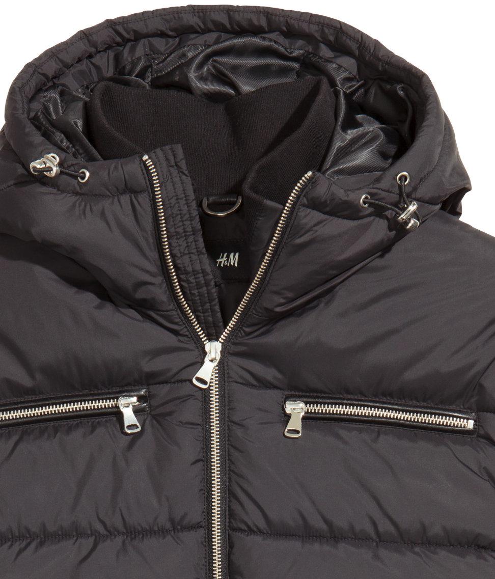 H&M Padded Jacket in Black for Men