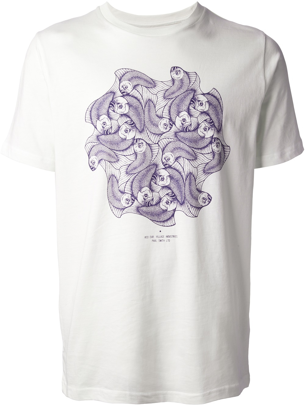 Paul smith fish print tshirt in white for men lyst for Fish print shirt