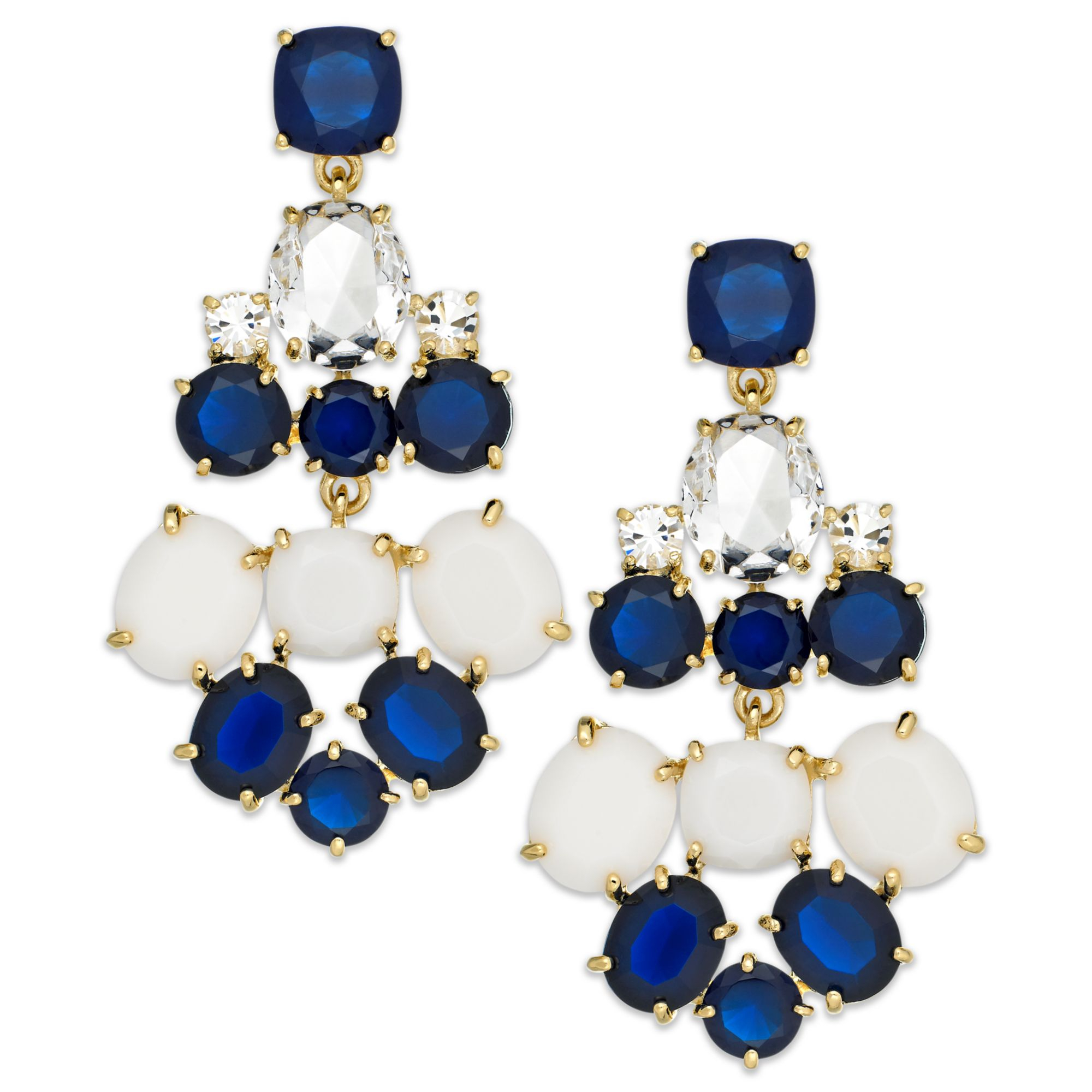 3d5d5d8c330c5 kate spade new york Goldtone Blue And White Stone Chandelier Earrings