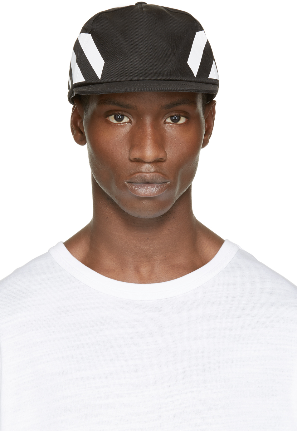 77462519 Off-White c/o Virgil Abloh Black Stripe Cap in Black for Men - Lyst