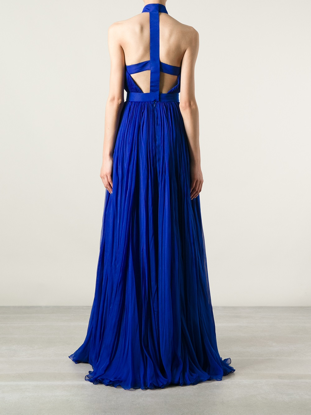 Lyst - Alexander Mcqueen Flared Layered Evening Gown in Blue